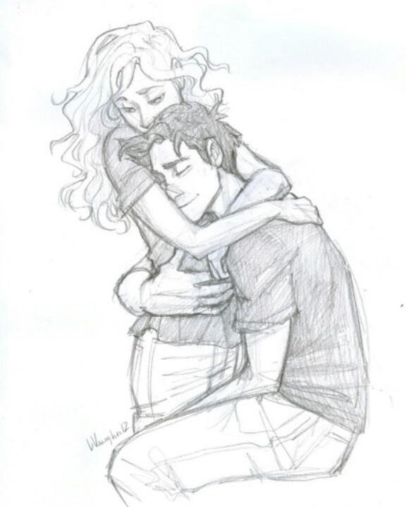 Percy and annabeth fan art