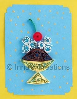 fun card ideasPaper Quilling, Inna Creations, Quilling Cards, Cards Ideas, Summer Cards, Ice Cream Sundaes, Crafts Quilling, Quilling Ideas, Paper Crafts