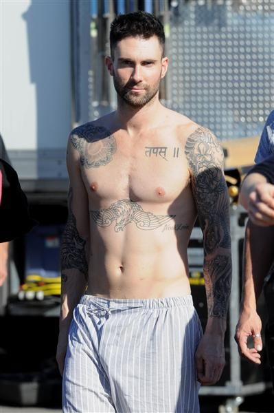 I can't get enough of Adam Levine shirtless...I still think he would be a great Christian Grey.