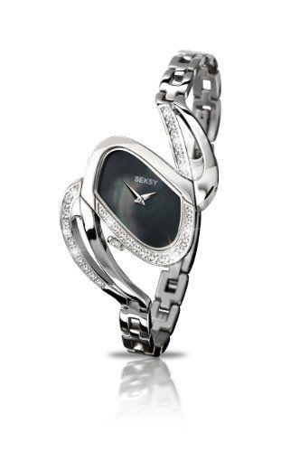 SEKSY Wrist Wear By SEKONDA - 4860.37 - Montre Femme - Quartz - Analogique - Bracelet Acier Inoxydable Argent