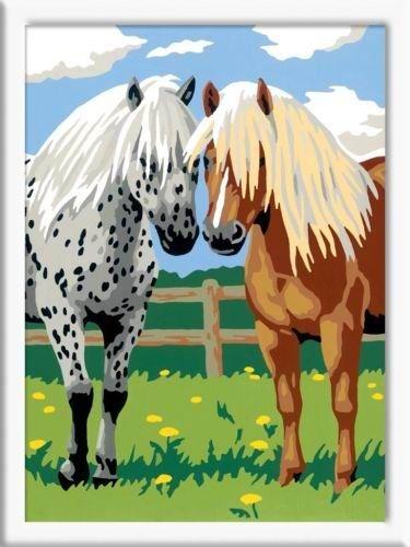 """Серия """"лошади"""" Лошадки. Раскрашивание по номерам Ravensburger (Германия)"""
