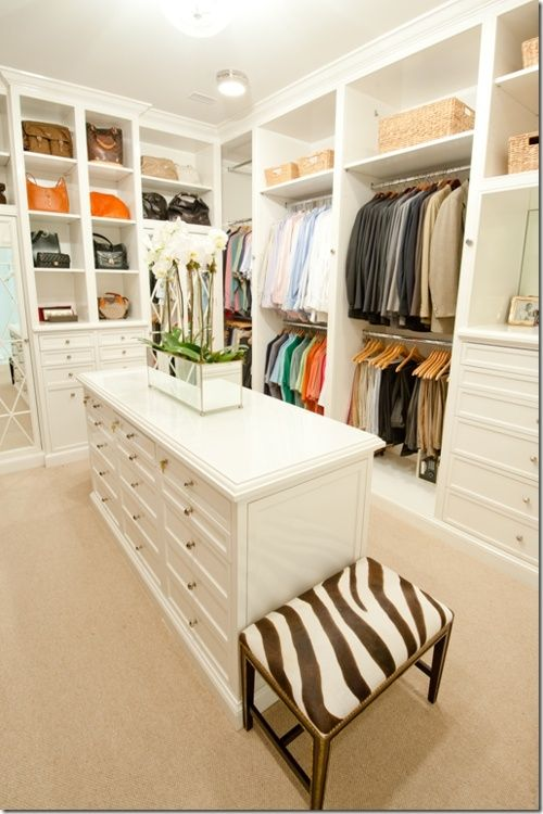 definitely want a central island in dream master closet