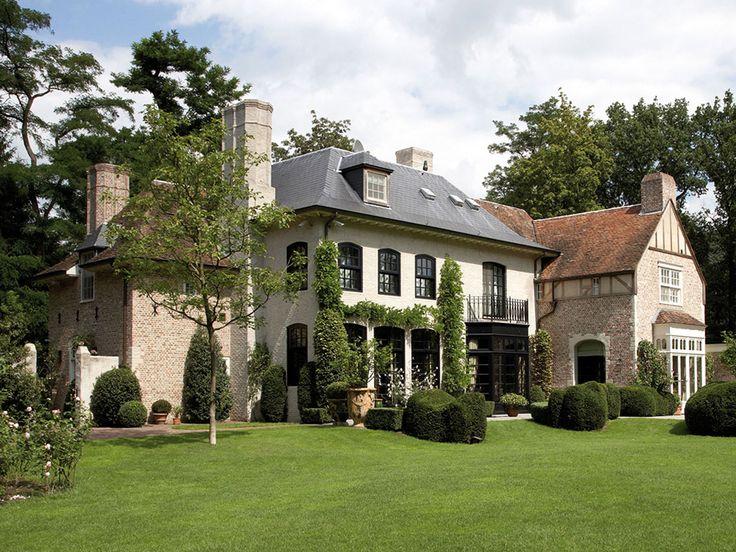 25 beste idee n over landhuis exterieurs op pinterest huis exterieur kleuren cottage huis - Chique landhuis ...