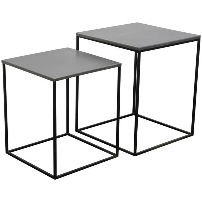 zing table gigogne scandinave - SoMedeco 40x40x47 35x35x42
