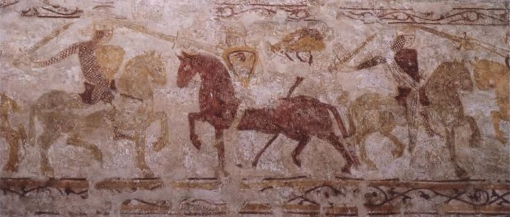 A wall painting from All Saints Church, Claverley, Shropshire, 12th/13th century