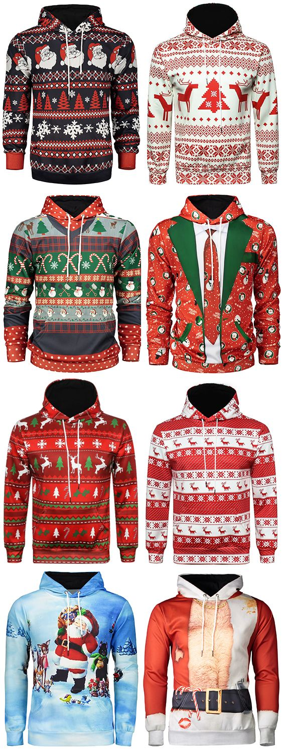 50% OFF Christmas Men's Hoodie,Free Shipping Worldwide.