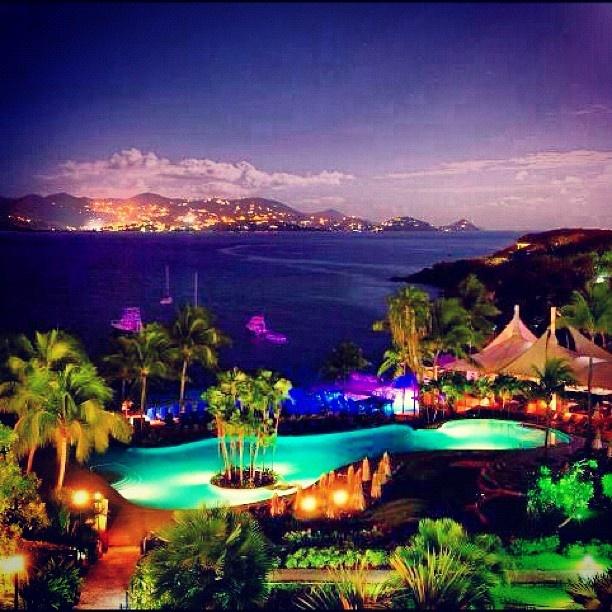 View of Cruz Bay from Ritz-Carlton #travel #caribbean #usvi