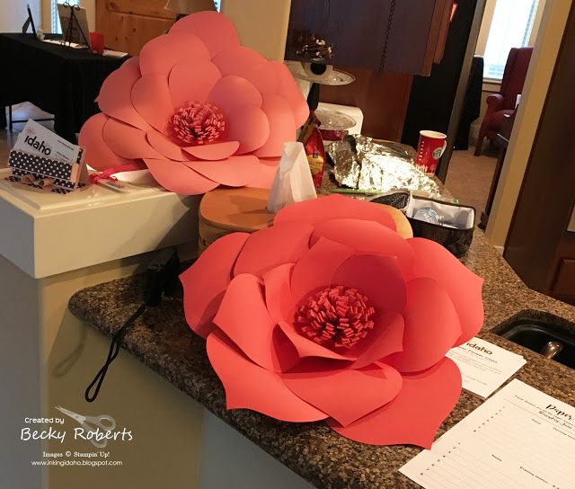 Giant Paper Flowers Video here, https://youtu.be/JeuM9N7FVNE Open House