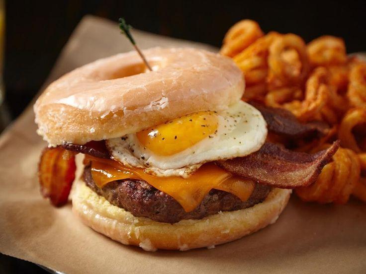 Eat like you're at the state fair: Glazed Doughnut Burger at Rockit Burger Bar