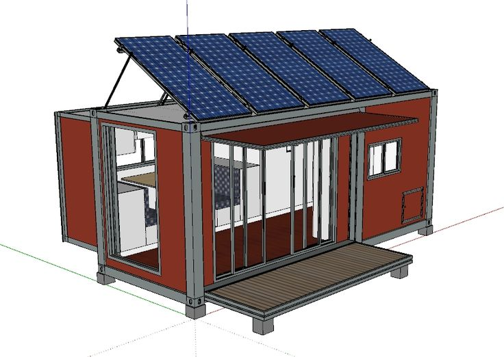 with solar system,foldable deck/veranda,and gladding glass door.