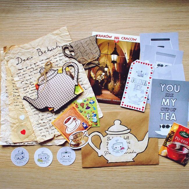 Tea themed letter