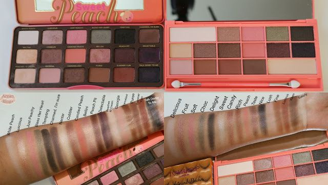 Makeup Revolution I Heart Chocolate and Peaches Palette dupe for Too Faced Sweet Peach Palette