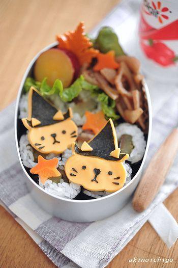 【連載】レシピブログ「ハロウィンネコちゃんのお弁当」