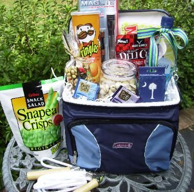 Road Trip Kit... with gas gift cards, small cooler, etc. Great gift idea!