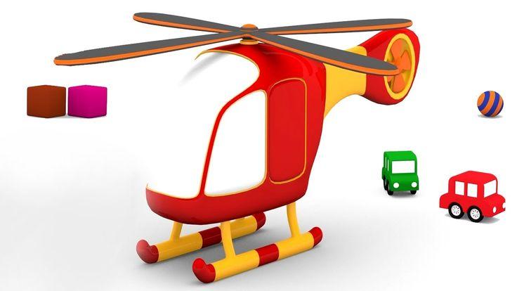 Le macchinine colorate e l'elicottero!