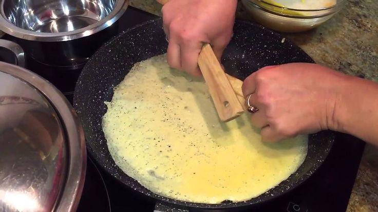 Как приготовить рулет для роллов из омлетных блинов
