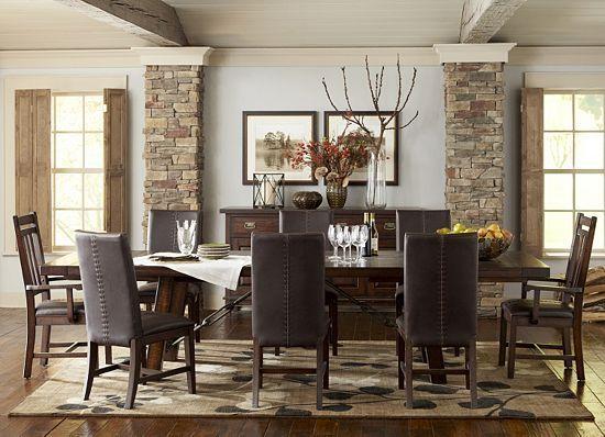 havertys kitchen tables retro tile backsplash dining rooms, arden ridge trestle table, rooms ...
