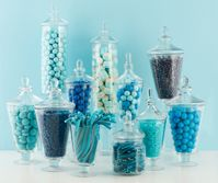 wedding candy buffet only in purple: Candy Buffet, Babyshower Ideas, Candy Table, Blue, Babyshowerideas4U Com, Wedding, Candy Bar, Party Ideas, Baby Shower