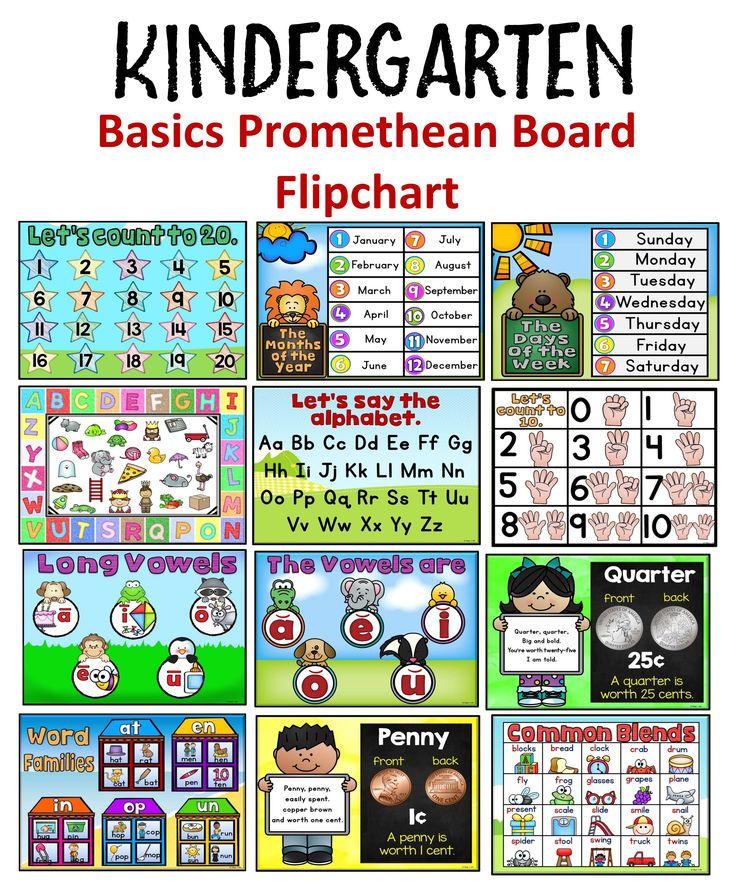 Kindergarten Calendar For Promethean Board : Kindergarten basic skills promethean board flipchart the