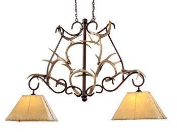 Rustic Lighting-Lodge Lighting-Antler Lighting-Southwestern Lighting Fixtures for pool table