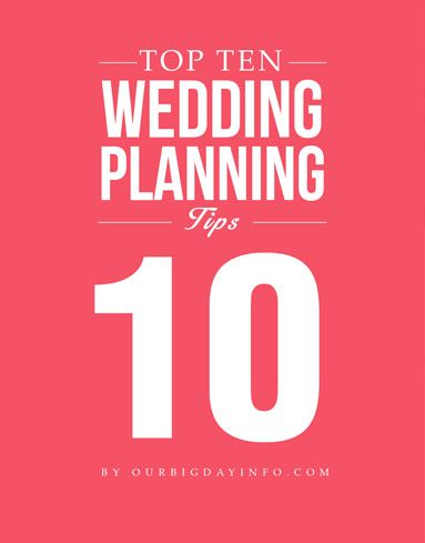 When planning a wedding, there are some things that are good to know. So we've selected our top ten wedding planning tips to help make your day the most memorable day of your life!