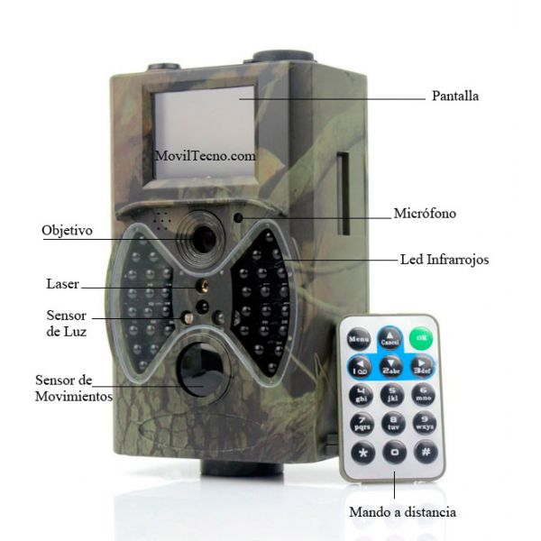 Camara de Video vigilancia para EXTERIORES Gran autonomia de funcionamiento con 8 pilas.