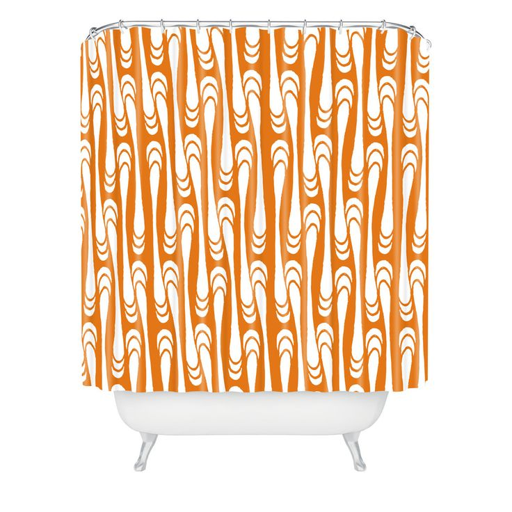 10 Ideas About Orange Shower Curtains On Pinterest Bohemian Curtains Smal