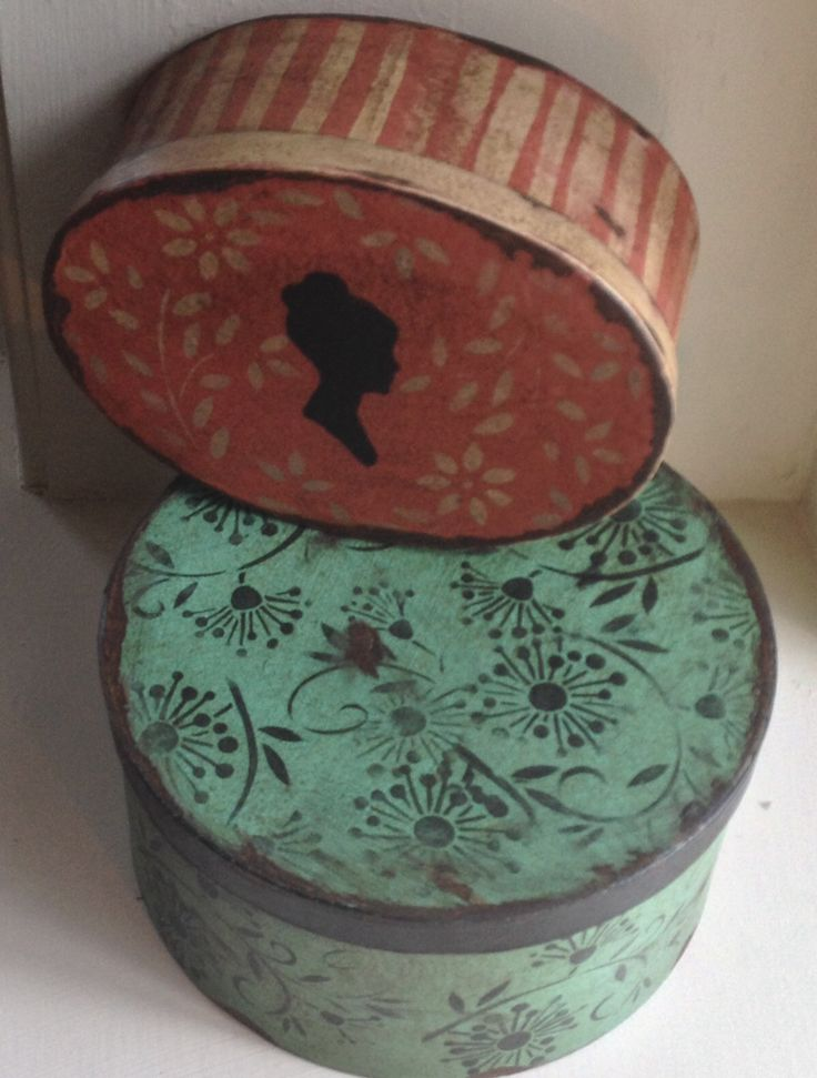 Beautiful hat boxes that are great for storage ! Hanway Mill House in etsy !