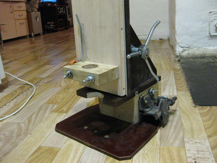стойка для дрели с тросовым лифтом обзор
