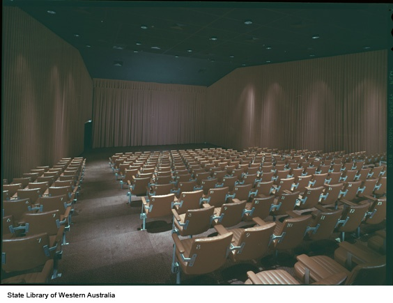 352054PD: Inside an Academy Cinema at the Perth Entertainment Centre, 1975