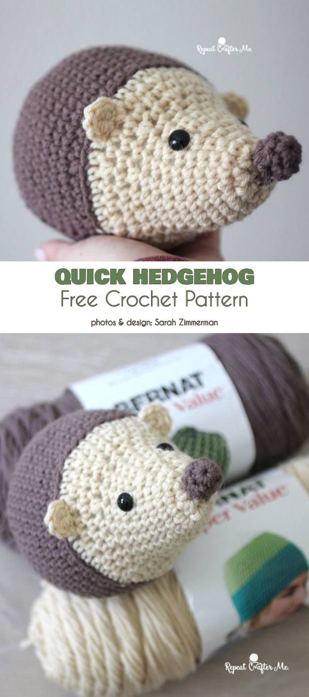 Quick Hedgehog Free Crochet Pattern | crochet♡ | Ganchillo, Croché ...