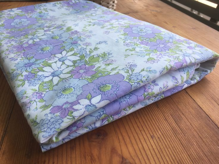 Excited to share the latest addition to my #etsy shop: Vintage Bed Sheet-1970's-Single bed sheet-Twin bed sheet-Retro fabric-Vintage Fabric-Floral sheet-Purple Floral.