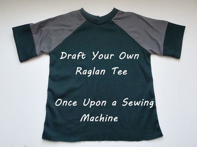 simple tutorial about drafting your own raglan sleeve pattern based off any regular t-shirt