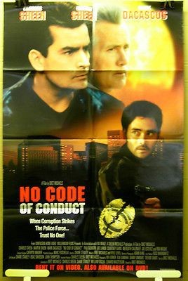 Movie Poster No Code Of Conduct Charles Sheen Martin Sheen F73