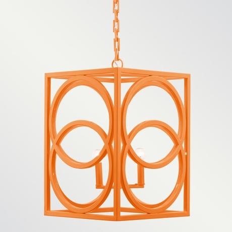 'Oslo' orange chandelier