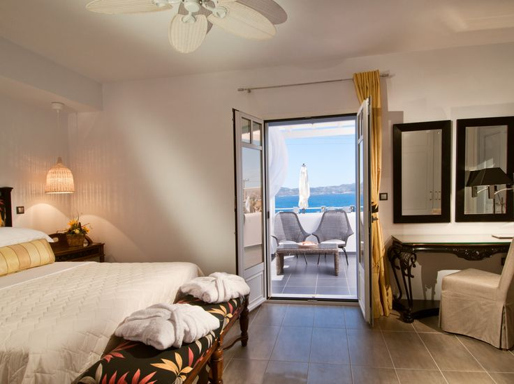 Modern comforts offered for relaxation and warmth.  #greece #hotel #suites #holidays