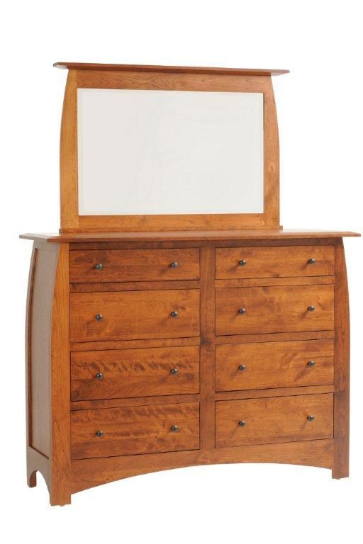 Give Your Bedroom Storage A Makeover With Our Amish Made Bordeaux High  Dresser! With Six, Fully Extending Drawers And A Large, Beveled Edge  Mirror, ...