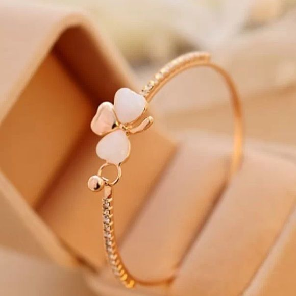 Flower Bangle Gold plated Jewelry