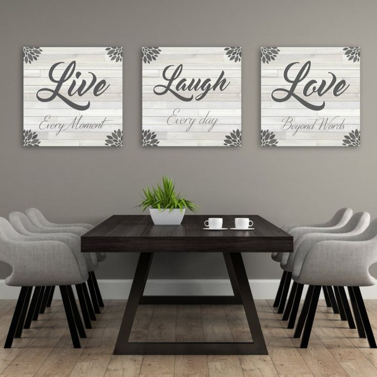 55 Dining Room Wall Decor Ideas: Live Laugh Love Wall Decor