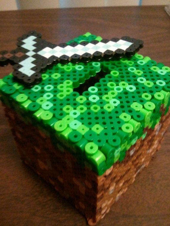 17 best ideas about minecraft blocks data wiki minecraft dirt coin bank perler beads by perlephile auf