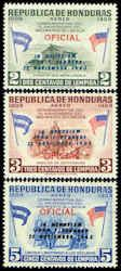 Honduras #C326 - C328 Stamps  John F Kennedy Stamps Overprinted