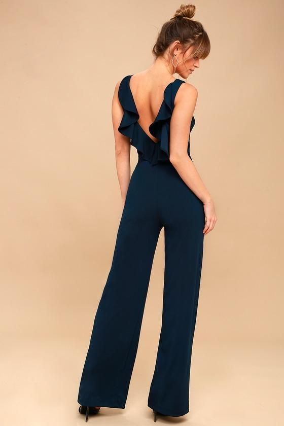 c724283e638c  mothersday  AdoreWe  Lulus -  Lulus Enamored Navy Blue Backless Jumpsuit -  Lulus - AdoreWe.com
