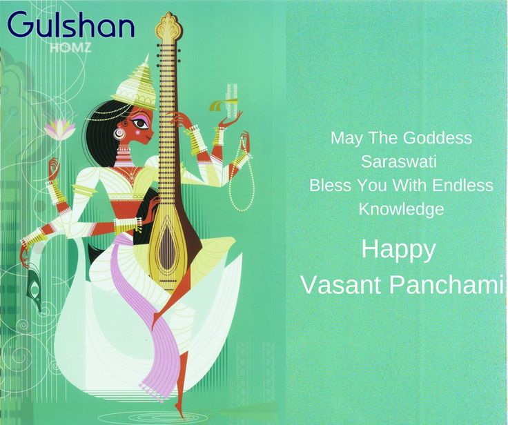 Gulshan homz wishes you all a Happy Vasant Panchami  May the Goddess Saraswati bestow her blessings of enlightenment, knowledge and wisdom on you and your family.