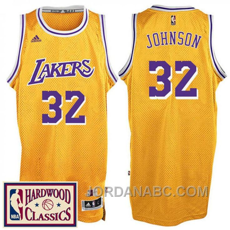 ... johnson nba basketball authentic 7a77c 7d232  where to buy 2016 17  season los angeles lakers 32 hardwood classics throwback gold jersey magic 77d15ead4