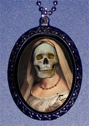 Human Skull Renaissance Woman Gothic by sweetheartsinner on Etsy, $7.00