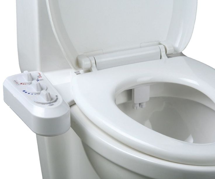 Dual Nozzle Self Cleaning Hot Bidet Toilet Seat Washlet Sprayer Attachment Kit  #Unbranded
