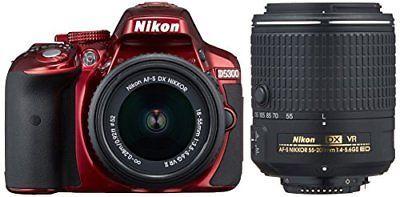 Nikon digital single-lens reflex camera D5300 double zoom kit 2 red P/O
