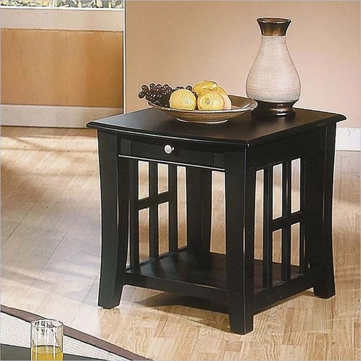 $163.98 on sale from $282.99.  I like the shape of this as it may go well with the media console I have.  Steve Silver Company Cassidy Black End Table - HA250E