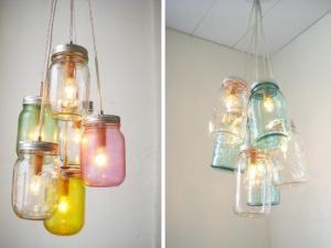 DIY : une lampe tout en bocaux! - par initialesgg