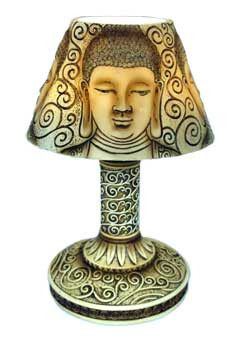 "9"" Buddha lamp with LED light"